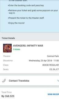 Avengers Infinity War - Wed 25, 11.00am