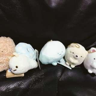 角落生物 角落動物 富士山 白熊 貓 娃娃 吊飾