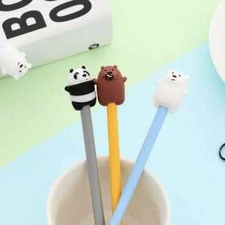 1 set of We bare bear 🐻 pen