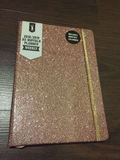A5 hard glitter cover pink diary 2018/2019