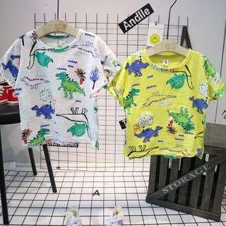 🚚 預購7-15碼可愛恐龍世界休閒上衣童裝