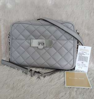 Auth Michael Kors Quilted Gray Sling Bag coach kate spade