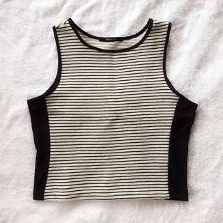 F21 Striped sleeveless top