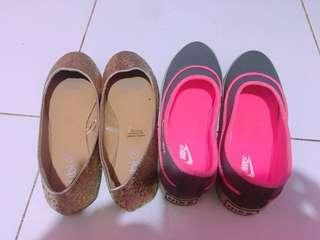Sepatu olahraga nike dan flat shoes little sting ukuran 37