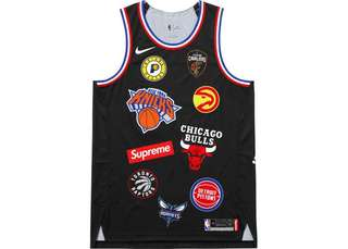 Supreme Nike/NBA Teams Authentic Jersey Black