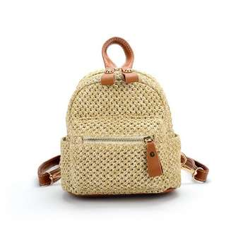 RATTAN / STRAW-WOVEN BACKPACK / SUMMER / BEACH / TRAVEL BAG (PRE-ORDER) 💯 FREE SHIPPING 💯