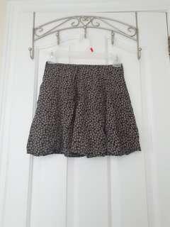 Brandy Melville: Black Floral Skirt