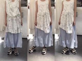 initial 長身裙 半裙 柯根紗