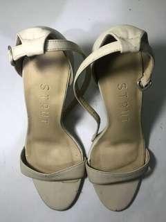 Strut Nude Block Sandals