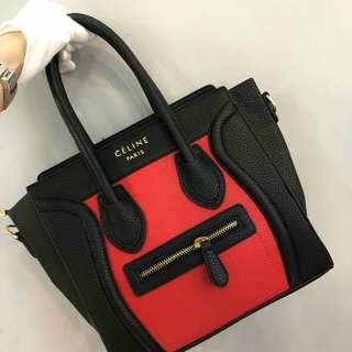 Celine Nano Bag Red Color
