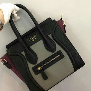 Celine Nano Bag Grey Color
