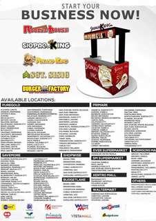Available list of locations for FoodCart Business