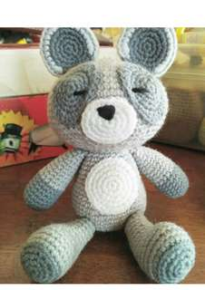 Handmade Knitted Stuffed Doll