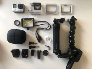 GoPro Hero4 (Silver) Wi-Fi with 3nos. EXTRA accessories