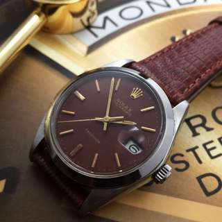 FOR SALE- 34mm Rolex 6694 Oysterdate In Reddish Golden Brown