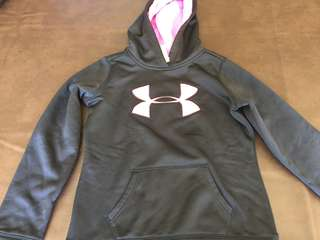 Under Armour hoodie black and pink size M