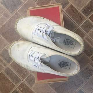 Vans Authentic Triple White with box