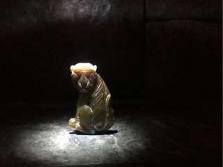 「A貨大本營;賠售  衝評價- 錯過可惜」「黃翡翠」獼猴 天然 翡翠 三彩 黃翡 冰種 糯米種 花青 飄綠 鵝黃糖蜜 觀音菩薩 吊墬