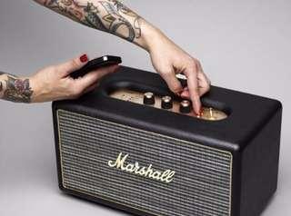 【紅豆美國代購】 Marshall Stanmore Bluetooth 藍芽喇叭(經典黑)
