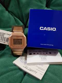 Casio Limoted Edition Rose Gold Stainless Steel Band