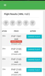 Manila to Iloilo