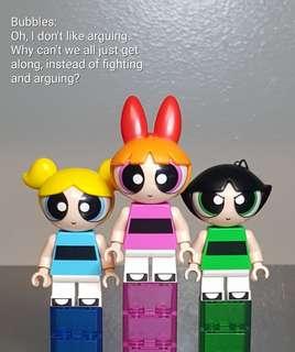 Authentic Powerpuff Girls Lego Dimensions - Blossom, Buttercup, Bubbles