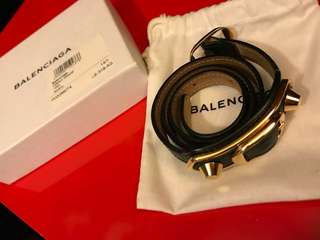 BALENCIAGA Leather Double Bracelet
