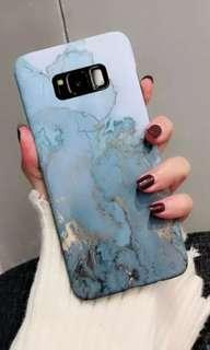 🚚 Samsung S8 Plus 全新粉藍大理石紋手機殼