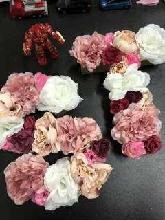 Paper Mache Floral Lettering