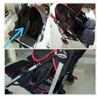 Stryler Double twin stroller