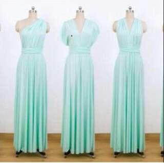 Preloved Infinity Dress (Mint Green)