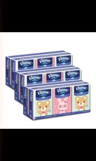 Kleenex hanky tissue bundle of 3