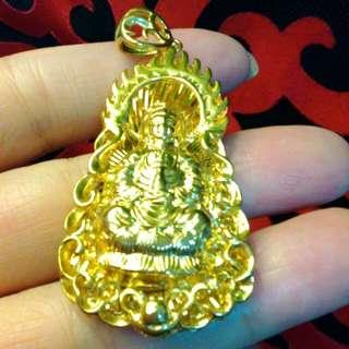 日本鎏裟金工藝。菩薩一背子福字。割愛未使用