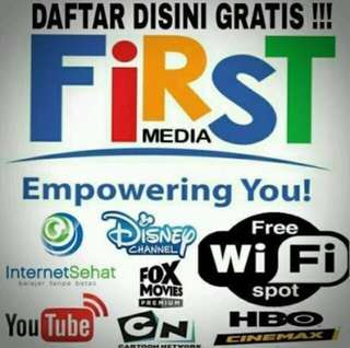 Promo internet unlimited & tv chanel firstmedia