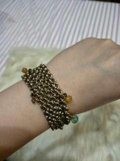Copper colored multi strand bracelet