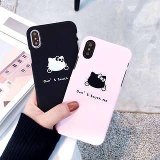 (PO) Bad Cat Hello Kitty Middle Finger Quote iPhone Casing