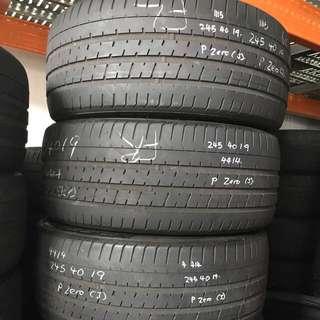 245/40/19 pzero used tyre 4pc available 55% tread $59lc