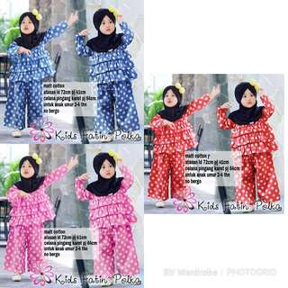 BV5071O - 2in1/set/st/setelan/stelan fafa polka kid/kids