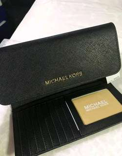 BNWT Michael Kors Trifold Leather Wallet - Black