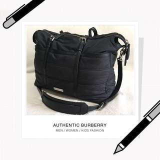 Burberry Abbey Black Baby Bag with Mat