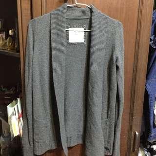Abercrombie & Fitch 翻領開襟針織罩衫外套