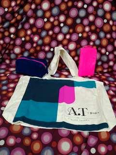 A.T. Atsuro Tayama tote bag 環保袋 購物袋 makeup bag 化妝袋
