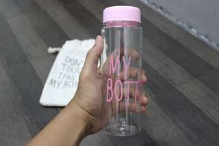 NEW Botol minum kaca don't touch my bottle