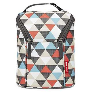 Skip Hop Double Bottle Bag - Triangles
