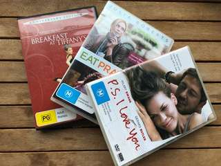 3x Romantic Love DVDs. Used. Great Condition!