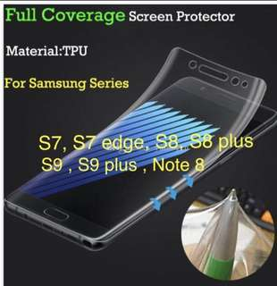 Full Coverage TPU Screen Protector for S8,S8+, S9,S9+,N8