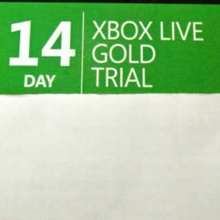 Xbox live gold 14 day trial digital code