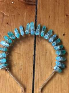 "WORN ONCE ""Sarah Crown"" by Crystal Eclipse Crowns"