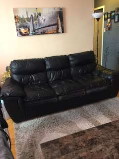 2 leather sofas for $200