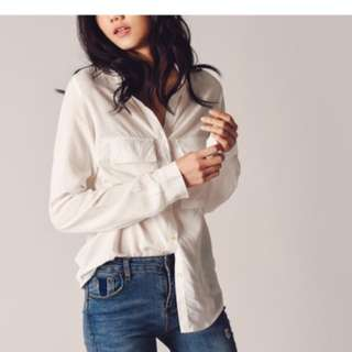 Cre&Ade White Long Sleeve Top